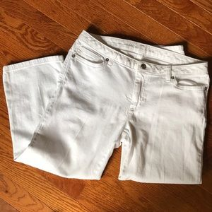 Michael Kors White Cropped Jeans